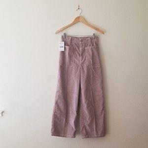 Free People Cropped Corduroy Pants